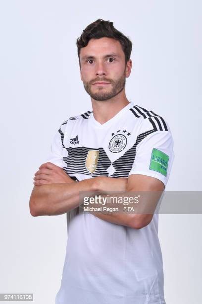 Jonas Hector of Germany pose for a photo during the official FIFA World Cup 2018 portrait session on June 13 2018 in Moscow Russia
