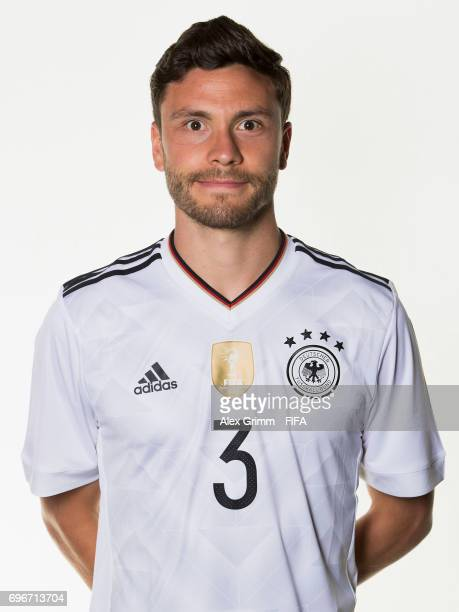 Jonas Hector poses for a picture during the Germany team portrait session on June 16 2017 in Sochi Russia