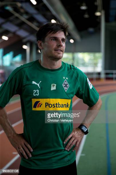 Jonas Hofmann during a lactate test of Borussia Moenchengladbach at Esprit Arena on July 03 2018 in Duesseldorf Germany