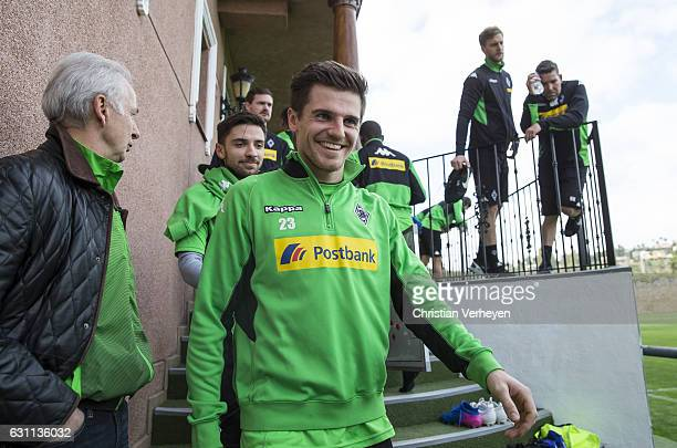 Jonas Hofmann of Borussia Moenchengladbach after a Training Session at Borussia Moenchengladbach Training Camp on January 07 2017 in Marbella Spain