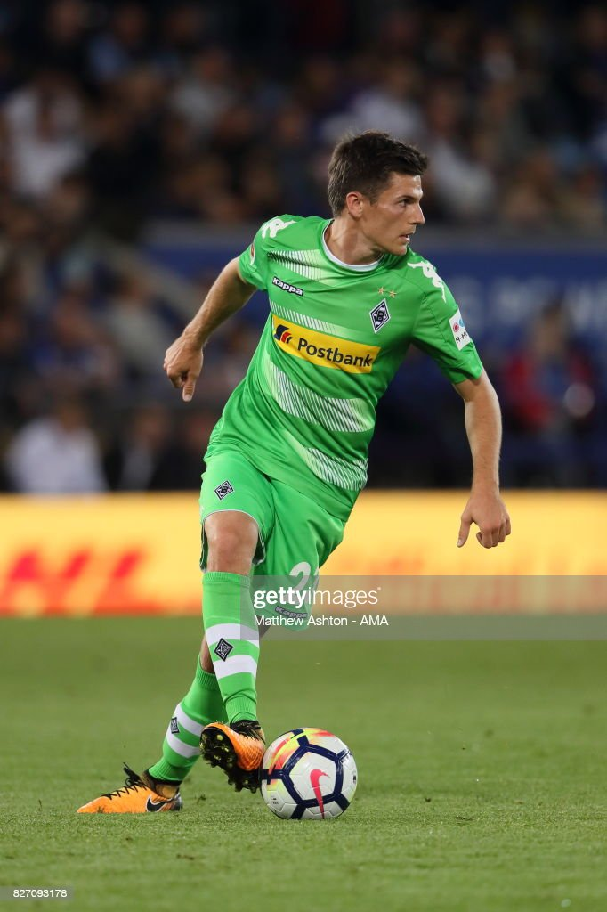 Jonas Hofmann of Borussia Moenchengladbach during the preseason friendly match between Leicester City and Borussia Moenchengladbach at The King Power Stadium on August 4, 2017 in Leicester, United Kingdom.