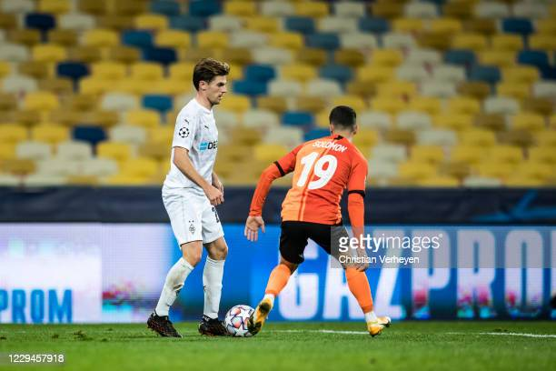 Jonas Hofmann of Borussia Moenchengladbach in action during the Group B UEFA Champions League match between Shakhtar Donetsk and Borussia...