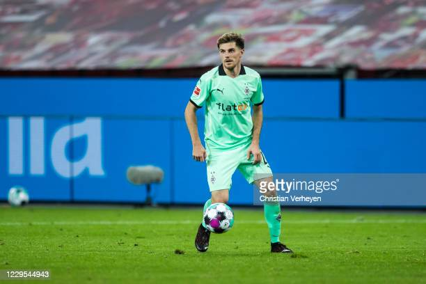 Jonas Hofmann of Borussia Moenchengladbach in action during the Bundesliga match between Bayer 04 Leverkusen and Borussia Moenchengladbach at...