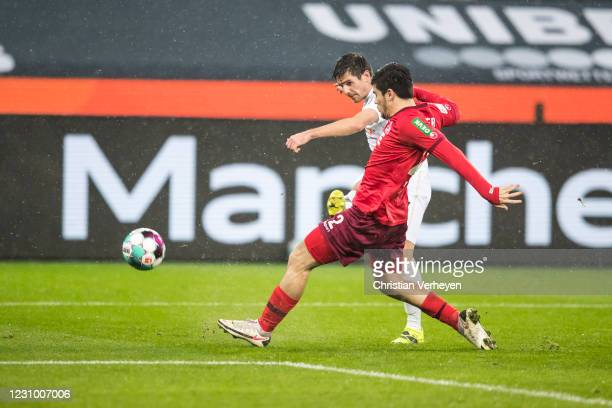 Jonas Hofmann of Borussia Moenchengladbach in action during the Bundesliga match between Borussia Moenchengladbach and 1.FC Koeln at Borussia-Park on...