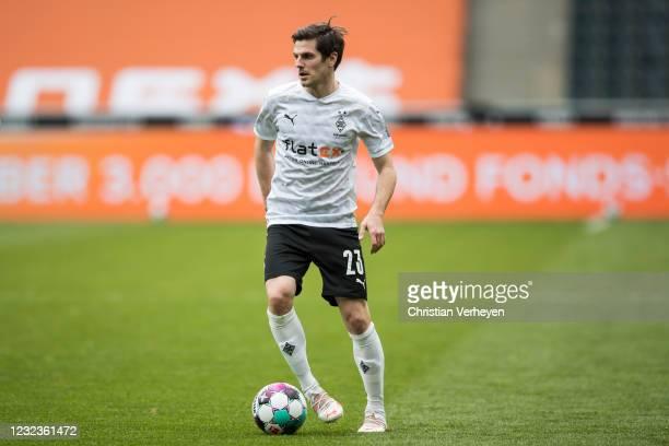 Jonas Hofmann of Borussia Moenchengladbach in action during the Bundesliga match between Borussia Moenchengladbach and Eintracht Frankfurt at...