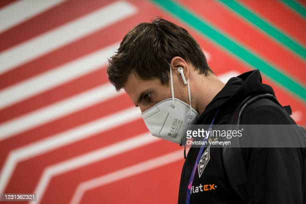 Jonas Hofmann of Borussia Moenchengladbach is seen before the UEFA Champions League Round Of 16 Leg One match between Borussia Moenchengladbach and...