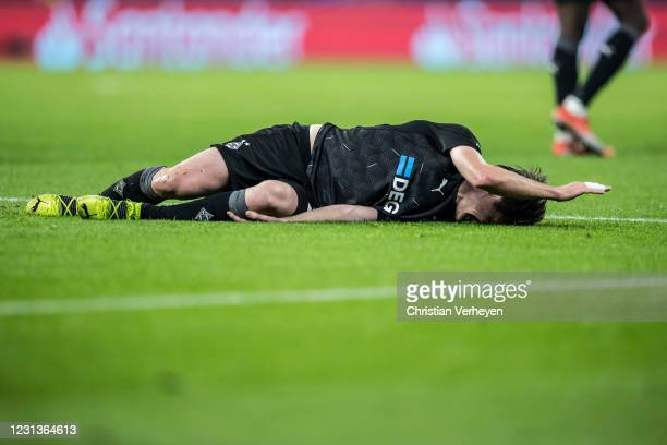 Jonas Hofmann of Borussia Moenchengladbach is seen during the UEFA Champions League Round Of 16 Leg One match between Borussia Moenchengladbach and...
