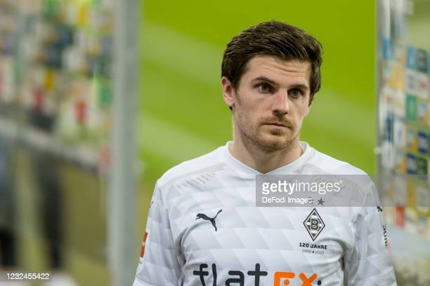Jonas Hofmann of Borussia Moenchengladbach looks on during the Bundesliga match between TSG Hoffenheim and Borussia Moenchengladbach at PreZero-Arena...