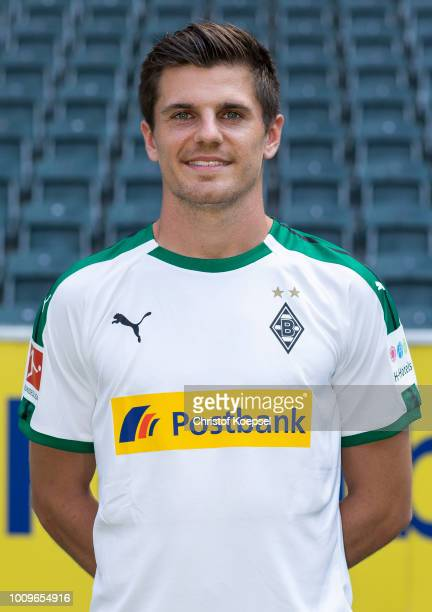 Jonas Hofmann of Borussia Moenchengladbach poses during the team presentation at Borussia Park on August 2 2018 in Moenchengladbach Germany