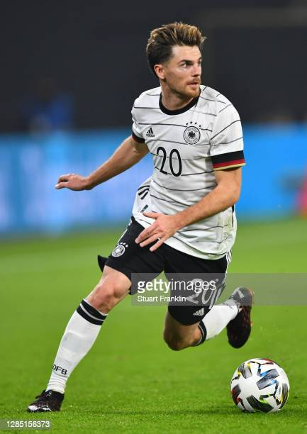 Jonas Hofmann of Germany controls the ball during the international friendly match between Germany and Czech Republic at Red Bull Arena on November...