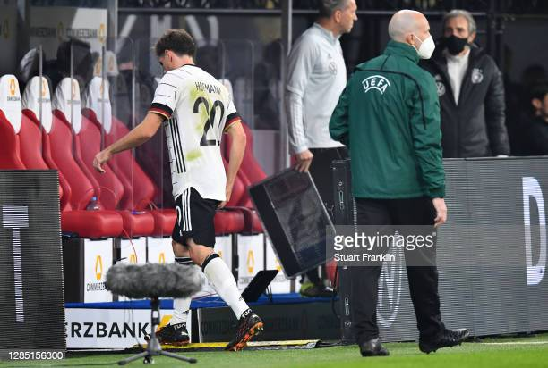 Jonas Hofmann of Germany leaves the pitch after his substitution during the international friendly match between Germany and Czech Republic at Red...