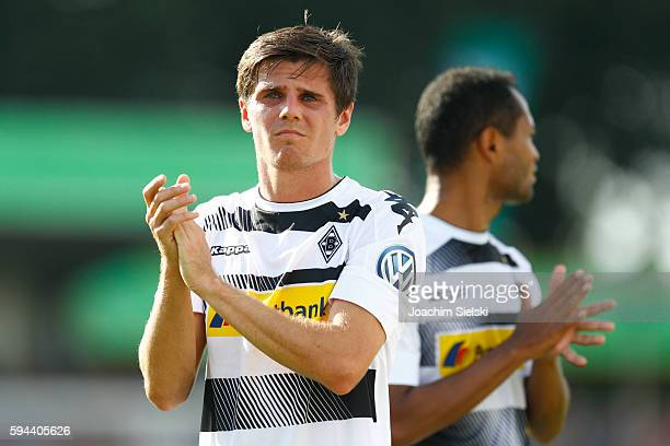 Jonas Hofmann of Moenchengladbach after the DFB Cup match between SV Drochtersen/Assel and Borussia Moenchengladbach at Kehdinger Stadion on August...