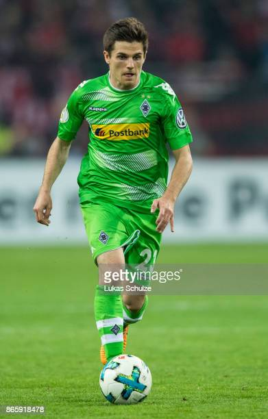 Jonas Hofmann of Moenchengladbach in action during the DFB Cup match between Fortuna Duesseldorf and Borussia Moenchengladbach at EspritArena on...