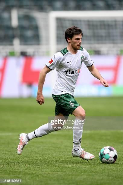 Jonas Hofmann of Moenchengladbach runs with the ball during the Bundesliga match between Borussia Moenchengladbach and VfB Stuttgart at Borussia-Park...