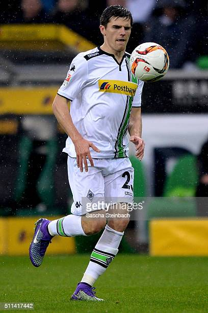 Jonas Hofmann of Moenchengladbach runs with the ball during the Bundesliga match between Borussia Moenchengladbach and 1 FC Koeln at BorussiaPark on...