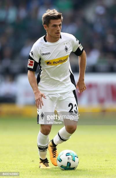 Jonas Hofmann of Moenchengladbach runs with the ball during the Bundesliga match between Borussia Moenchengladbach and Eintracht Frankfurt at...