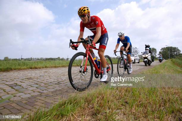 Jonas Iversby Hvideberg of Norway / Alexander Konychev of Italy / Cobblestones / during the 25th UEC Road European Championships 2019, U23 Men's Road...