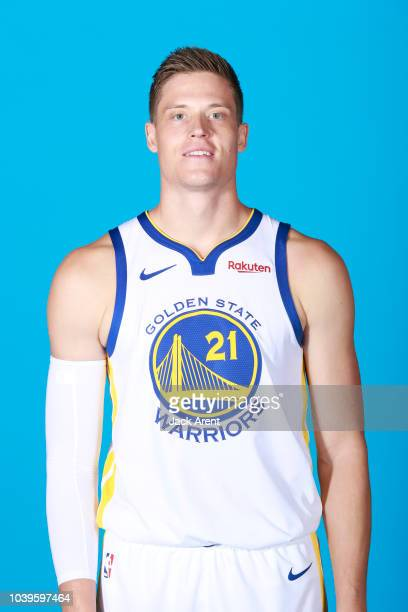 Jonas Jerebko of the Golden State Warriors during Media Day on September 24 2018 at the Warriors Practice Facility in Oakland California NOTE TO USER...