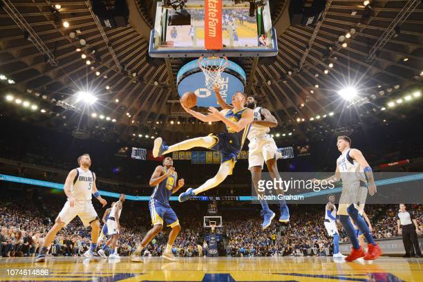 Jonas Jerebko of the Golden State Warriors shoots the ball against the Dallas Mavericks on December 22 2018 at ORACLE Arena in Oakland California...