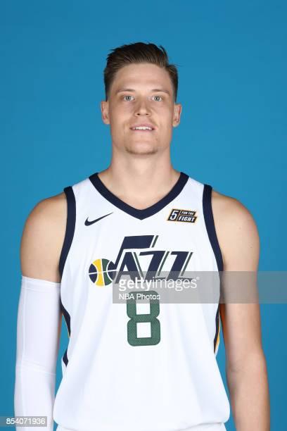 Jonas Jerebko of the Utah Jazz poses for a head shot during media day at Zions Bank Basketball Center on September 25 2017 in Salt Lake City Utah...