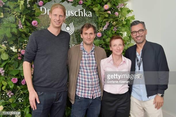 Jonas Katzenstein Simon Jaquemet Tolga Dilsiz and guest attend German Films X Dr Hauschka Reception at the 43rd Toronto International Film Festival...