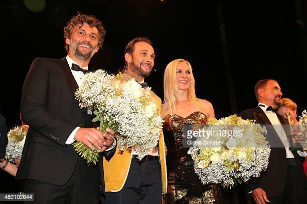 Jonas Kaufmann Alexander Klaus Stecher during the 'Die Goldene Deutschland' Gala on July 26 2015 at Cuvillies Theater in Munich Germany