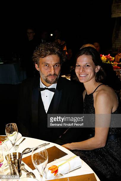Jonas Kaufmann and his Partner attend the gala of AROP and the Representation of 'La Damnation de Faust' at Opera Bastille on December 8 2015 in...