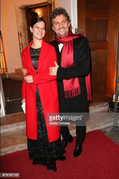 Jonas Kaufmann and his partner Christiane Lutz during the 80th birthday party of Roland Berger at Cuvillies Theatre on November 25 2017 in Munich...