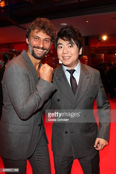 Jonas Kaufmann and Lang Lang arrive at the Bambi Awards 2014 on November 13, 2014 in Berlin, Germany.