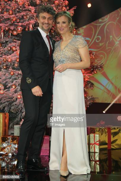 Jonas Kaufmann and Nina Eichinger attend the 23th Annual Jose Carreras Gala on December 14 2017 in Munich Germany