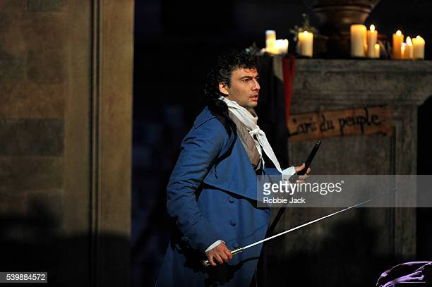 Jonas Kaufmann as Andrea Chenier in the Royal Opera's production of Umberto Giordano's Andrea Chenier directed by David McVicar and conducted by...