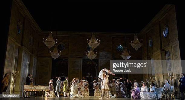 Jonas Kaufmann as Andrea Chenier with artists of the company in the Royal Opera's production of Umberto Giordano's Andrea Chenier directed by David...