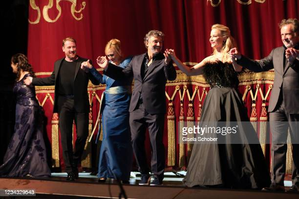 "Jonas Kaufmann attend the extra festival concert ""Der wendende Punkt"" as part of the Munich Opera Festival 2021 at Bayerische Staatsoper on July 30,..."