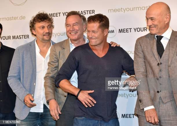 Jonas Kaufmann Nico Hofmann Til Schweiger and Heiner Lauterbach at the launch event of Meet Your Master at Hotel Bayerischer Hof on October 21 2019...