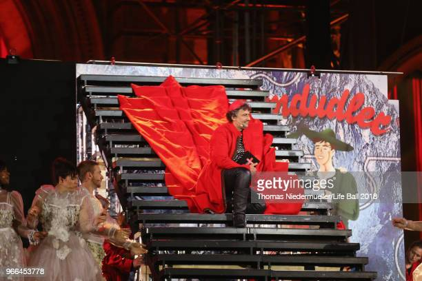 Jonas Kaufmann performs on stage during the Life Ball 2018 show at City Hall on June 2 2018 in Vienna Austria The Life Ball an annual charity event...