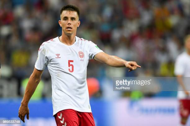 Jonas Knudsen of Denmark during the 2018 FIFA World Cup Round of 16 match between Croatia and Denmark at Nizhny Novgorod Stadium in Nizhny Novgorod...
