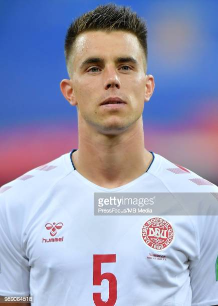 Jonas Knudsen of Denmark during the 2018 FIFA World Cup Russia Round of 16 match between Croatia and Denmark at Nizhny Novgorod Stadium on July 1...