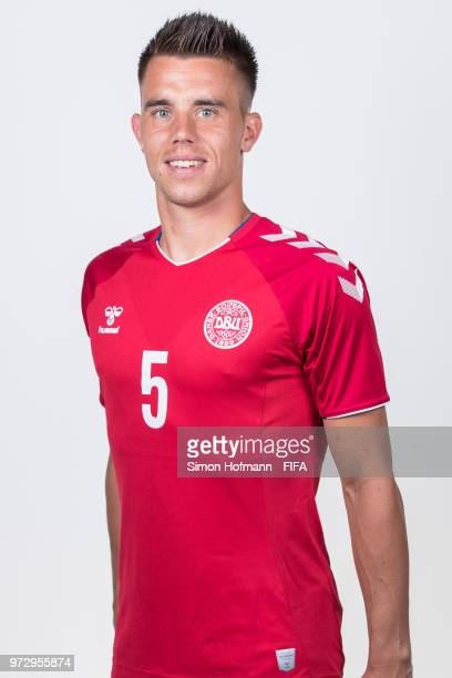 Jonas Knudsen of Denmark poses during official FIFA World Cup 2018 portrait session on June 12 2018 in Anapa Russia