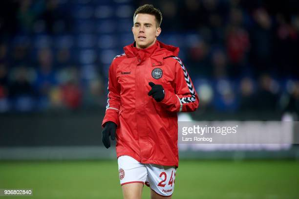 Jonas Knudsen of Denmark prior to the International friendly match between Denmark and Panama at Brondby Stadion on March 22 2018 in Brondby Denmark