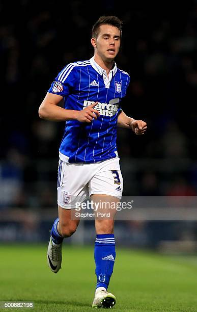 Jonas Knudsen of Ipswich Town during the Sky Bet Championship match between Ipswich Town and Middlesbrough at Portman Road stadium on December 4 2015...