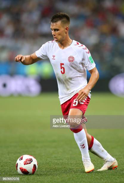 Jonas Knudsenl of Denmark during the 2018 FIFA World Cup Russia Round of 16 match between Croatia and Denmark at Nizhny Novgorod Stadium on July 1...
