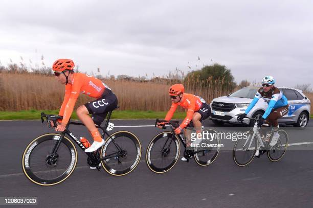 Jonas Koch of Germany and CCC Team / Jakub Mareczko of Italy and CCC Team / Alexandre Geniez of France and Team Ag2R La Mondiale / during the 5th...
