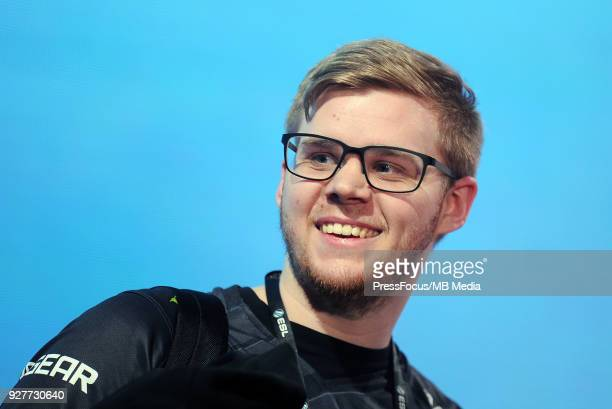 Jonas Lekr0 Olofsson during CounterStrike Global Offensive final game between FaZe Clan and Fnatic on March 4 2018 in Katowice Poland