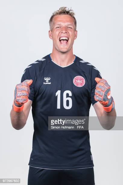 Jonas Loessl of Denmark poses during official FIFA World Cup 2018 portrait session on June 12 2018 in Anapa Russia
