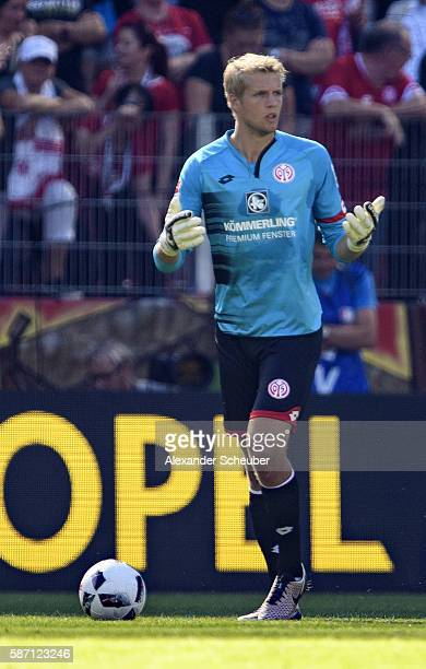 Jonas Loessl of Mainz 05 during the friendly match between 1 FSV Mainz 05 and Liverpool FC at Opel Arena on August 7 2016 in Mainz Germany
