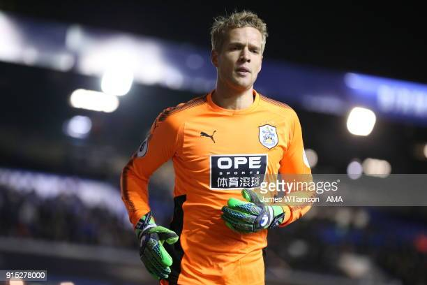 Jonas Lossl of Huddersfield Town during The Emirates FA Cup Fourth Round Replay at St Andrews on February 6 2018 in Birmingham England