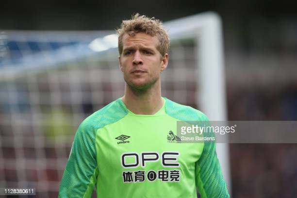 Jonas Lossl of Huddersfield Town during the Premier League match between Brighton Hove Albion and Huddersfield Town at American Express Community...