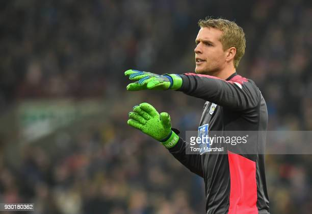 Jonas Lossl of Huddersfield Town during the Premier League match between Huddersfield Town and Swansea City at John Smith's Stadium on March 10 2018...
