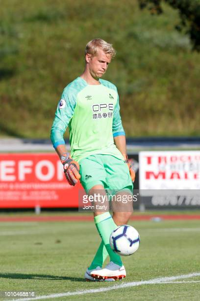 Jonas Lössl of Huddersfield Town during the preseason friendly between Huddersfield Town and RB Leipzig on 03 August 2018 in Schwaz Austria
