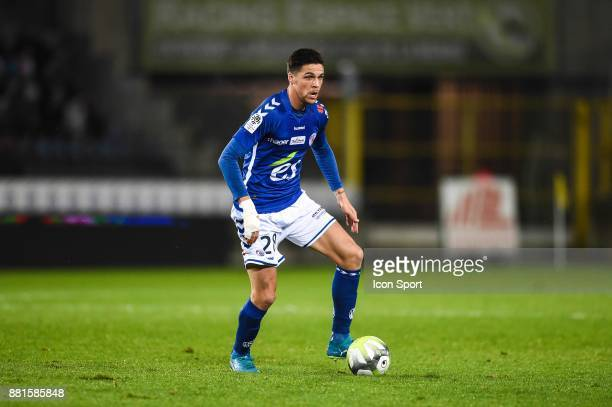 Jonas Martin of Strasbourg during the Ligue 1 match between RC Strasbourg and SM Caen at Stade de la Meinau on November 28 2017 in Strasbourg
